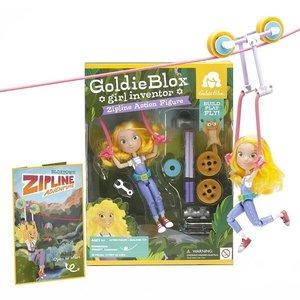 Goldie in actie aan de kabelbaan